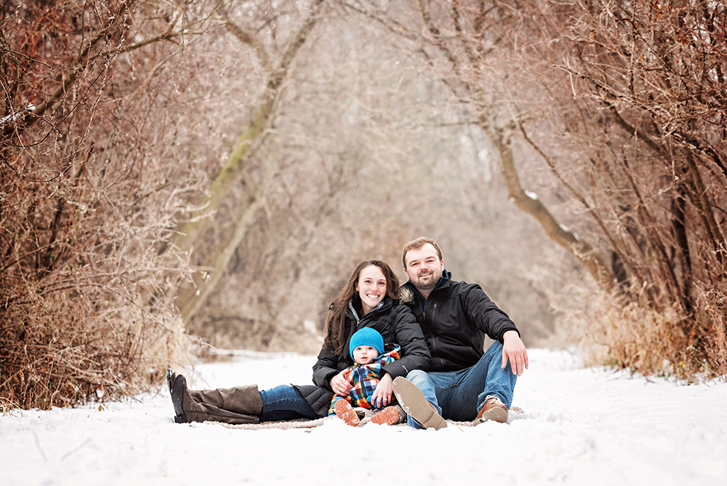 Family Photoshoot in Winter and Snow