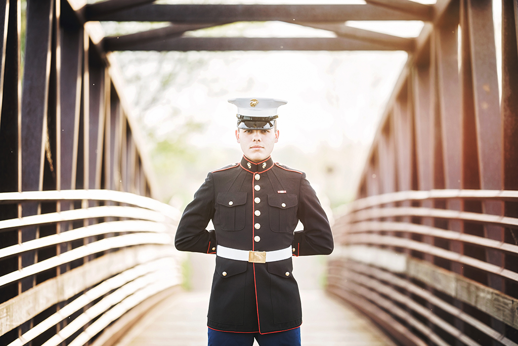 Michigan Senior Portraits - Senior Guy Who Joined the Marines