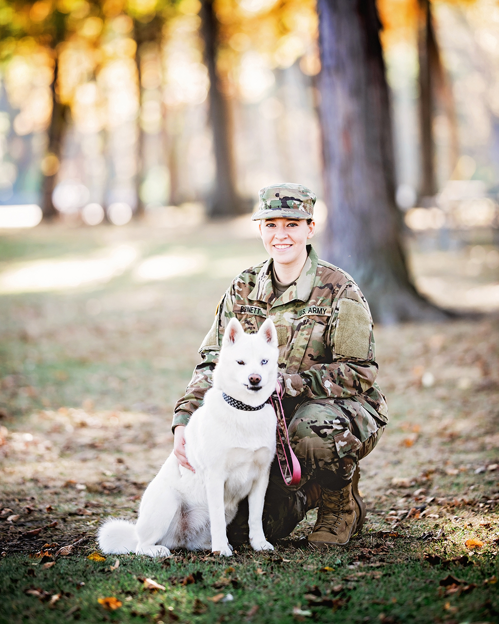 Michigan Senior Portraits - High School Senior Joining the Army who brought her Dog to the Session